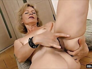 Lustful deaf-mute Russian grandma Diana... 1 blonde fingering hairy