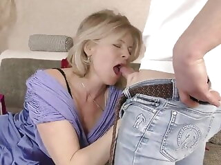 Lustful deaf-mute Russian grandma Diana, Hardcore blonde blowjob hardcore