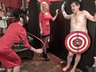 THE WHIP LESSON 2 - PIZZA MAN - KINK ballbusting femdom