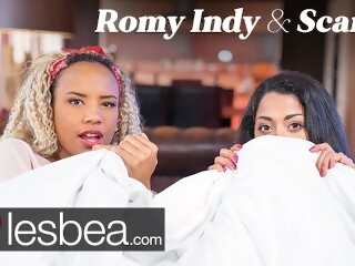 Lesbea Romy Indy and Scarlet Rebel in Movie Night Lesbian Love Making lesbea butt black