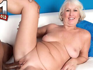 Cock Juice For The 60plus Milf - Jeannie Lou And Lucas Stone - 60PlusMilfs big ass big tits high heels
