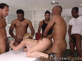 Milf takes black members in her ass hd